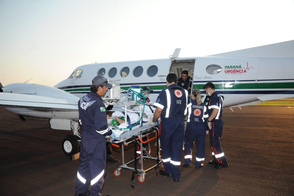 Paraná Urgência, transporte aeromédico. Foto:Venilton Küchler
