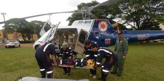 Foto:Venilton Küchler . Treinamento para profissionais que atuarão no helicóptero de resgate.