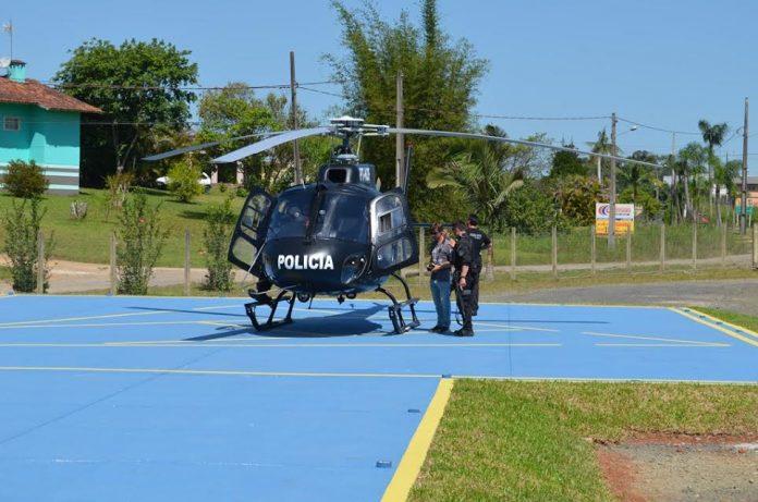 Helicóptero da Polícia Civil começa a operar em Criciúma/SC