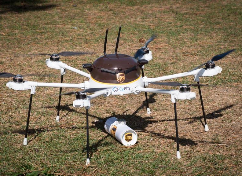UPS e CyPhy Works testam drones para entregas comerciais urgentes