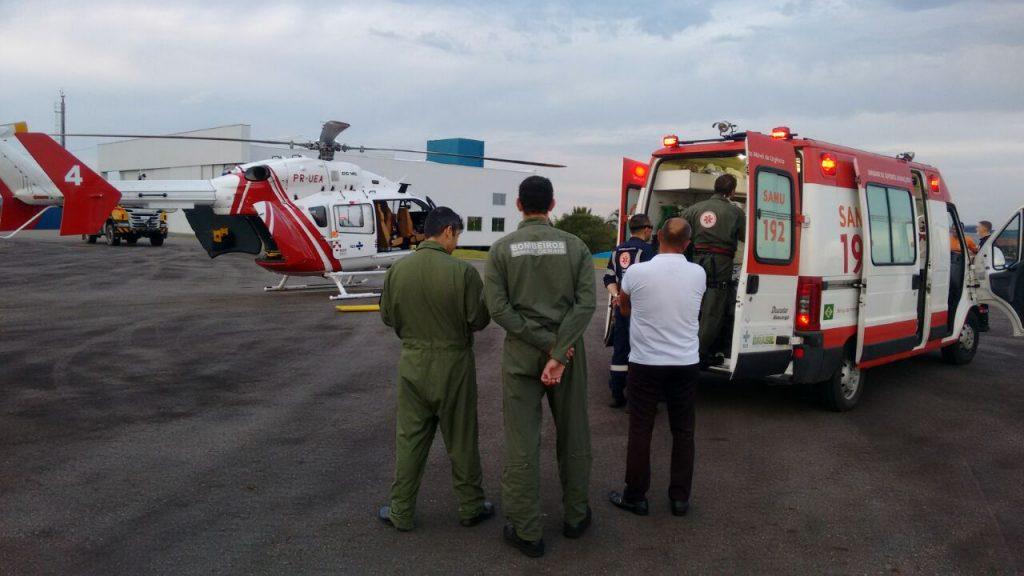 Arcanjo 04 resgata vítima de acidente de trânsito em Varginha/MG