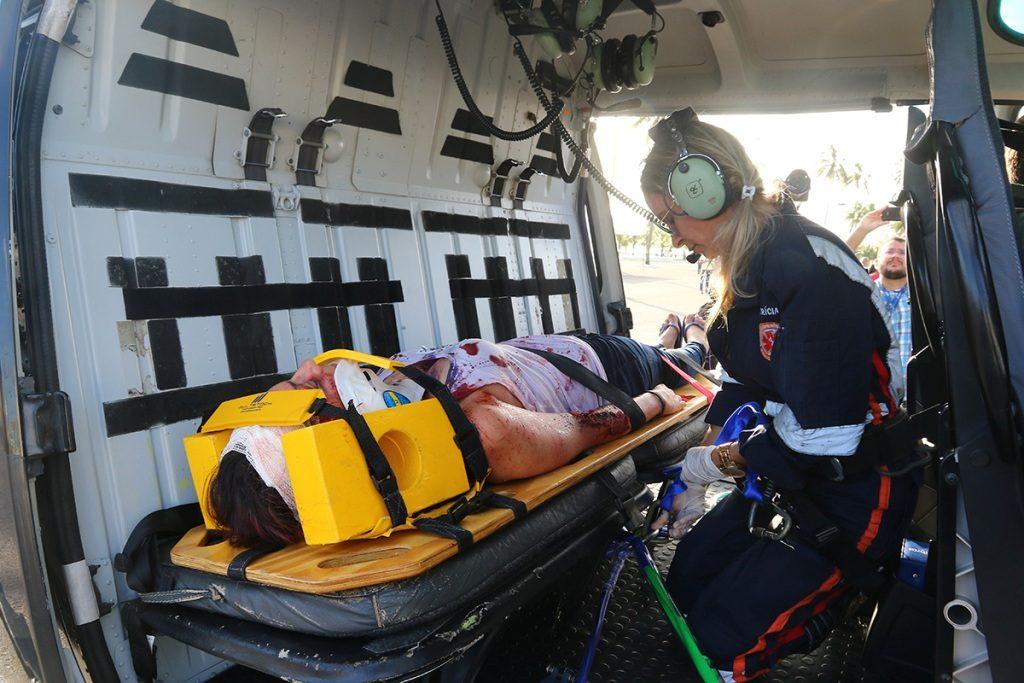 Falcão 2 da Segurança Pública participa de simulado de resgate com trauma