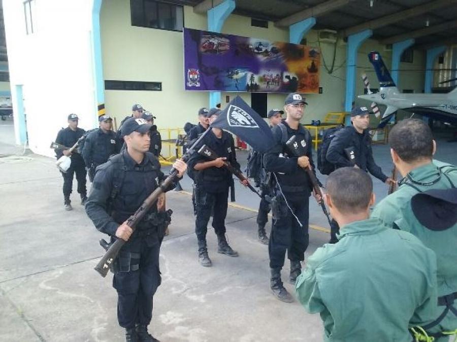 Policiais do Tigre adquirem conhecimento de Operações Aéreas