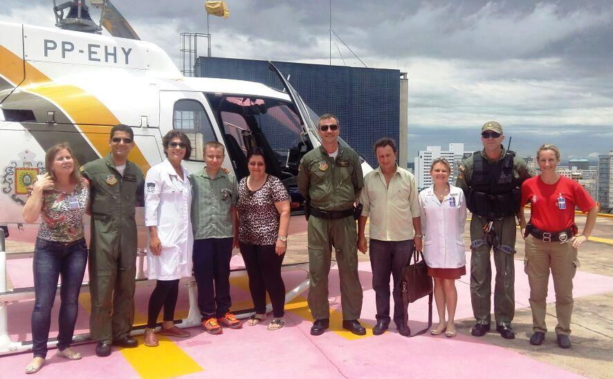 Em operação integrada jovem é transportado de Santa Catarina para Porto Alegre para transplante de rim