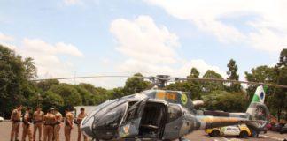 O uso da aeronave permite um campo de ação maior nas ações policiais - LORENA MANARIN