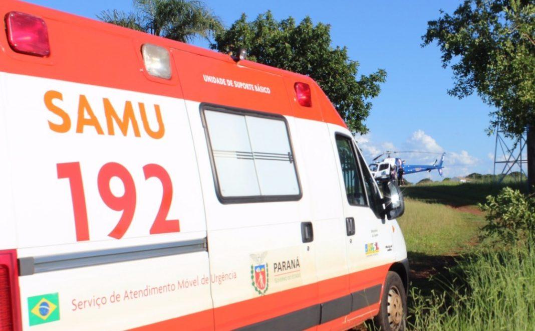 Criança de um ano com queimaduras é transferida de helicóptero para Londrina