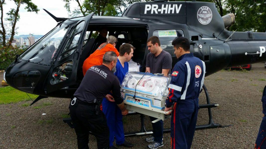 SAER e SARA realizam transporte aeromédico de recém-nascido