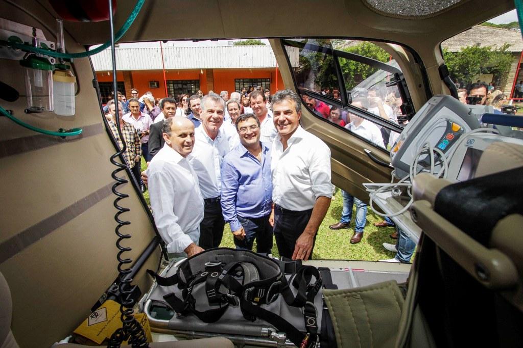 Richa inaugura serviço aeromédico para atender a população do Noroeste