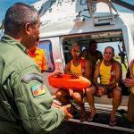 Batalhão de Aviação da Brigada Militar realiza treinamento no mar com novo equipamento