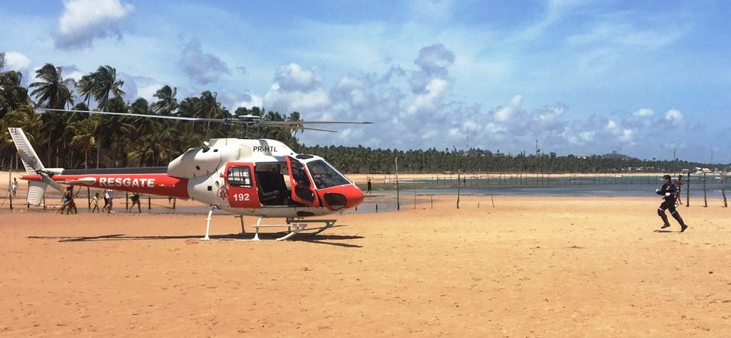 Grupamento Aéreo faz resgates após acidente e afogamento