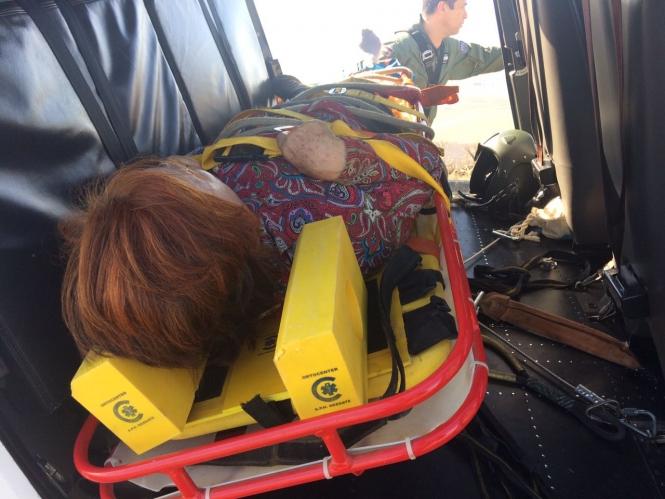 Idosa é resgatada pelo Harpia 02 do Monte Aghá após sofrer fratura