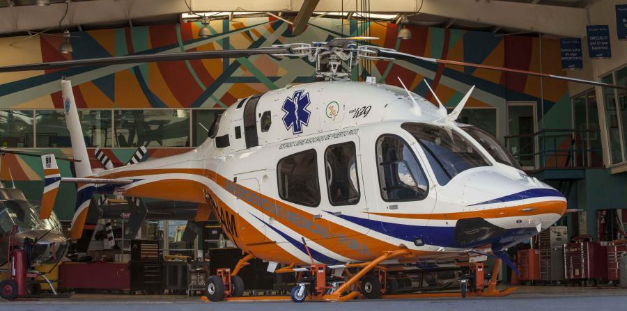 O helicóptero irá operar inicialmente como uma busca e salvamento do navio público para o transporte de vítimas de acidentes ou situações de emergência.