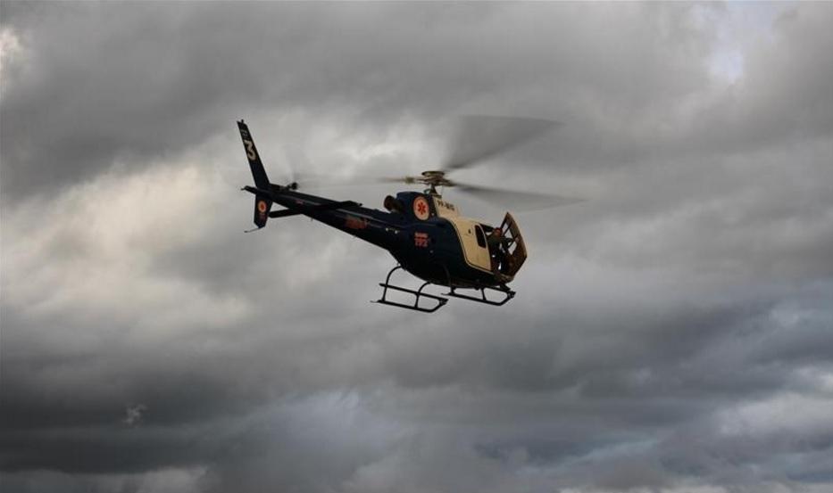 Helicóptero do SAMU Maringá resgata vítima de acidente na BR-369
