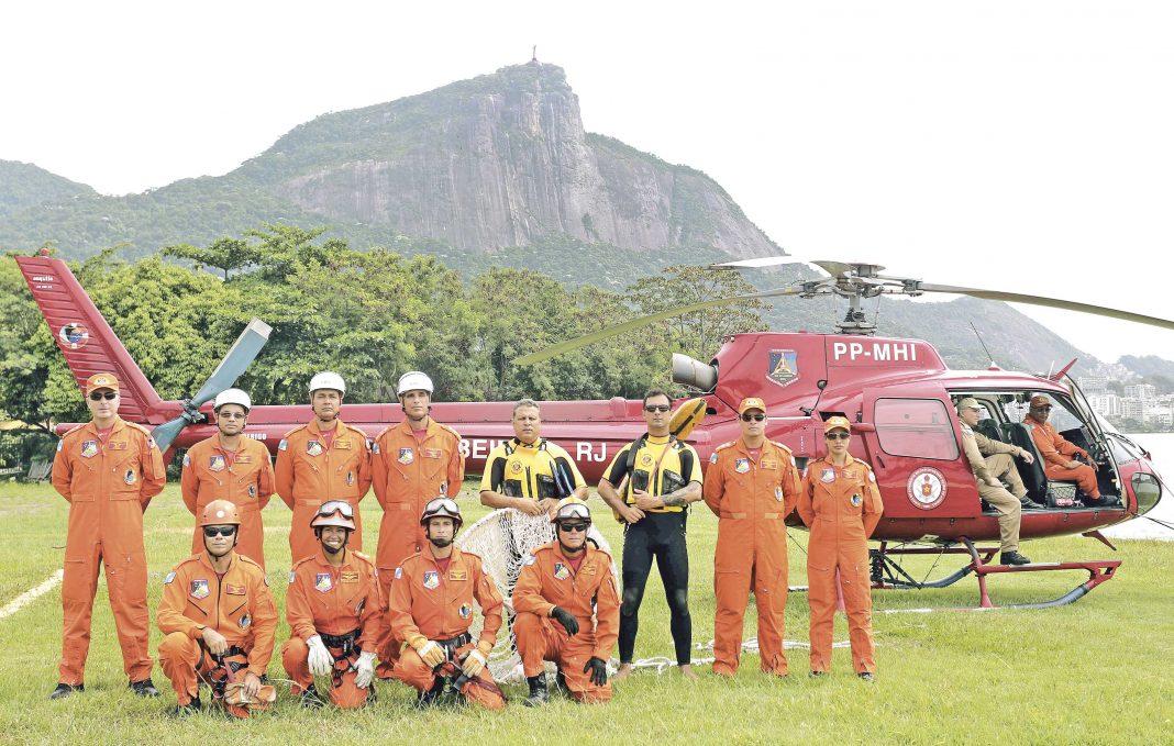Dia a dia do Grupamento de Operações Aéreas do Corpo de Bombeiros. Fotos: Carlos Magno