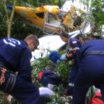 Águia 01 e Arcanjo 03, em ação integrada, localizam avião acidentado e socorrem piloto agrícola