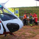 Águia 11 resgata vítima de capotamento na rodovia Carvalho Pinto