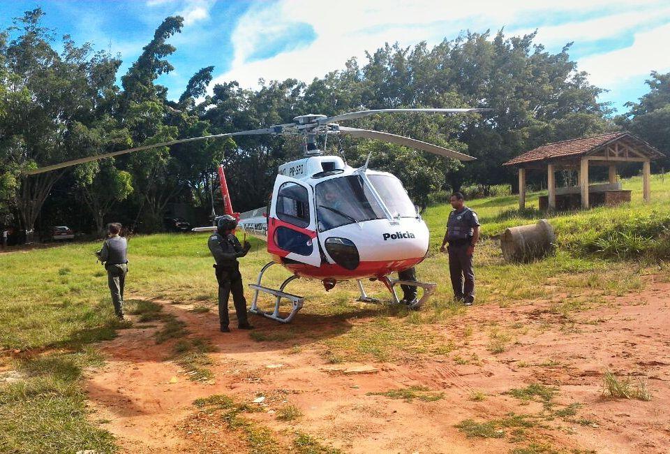 Águia da Base de Rio Preto realizou apoio ao policiamento nas prainhas dos Municípios de Ubarana e Mendonça