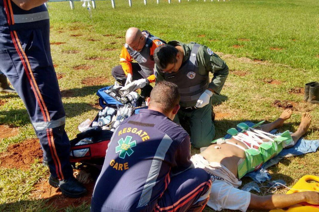 Águia resgata vítima de atropelamento em área rural do município de Monte Mor