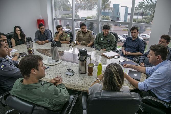 Avançam as obras da Base do CIOPAer em Sorriso e ação integrada é tema no municípo
