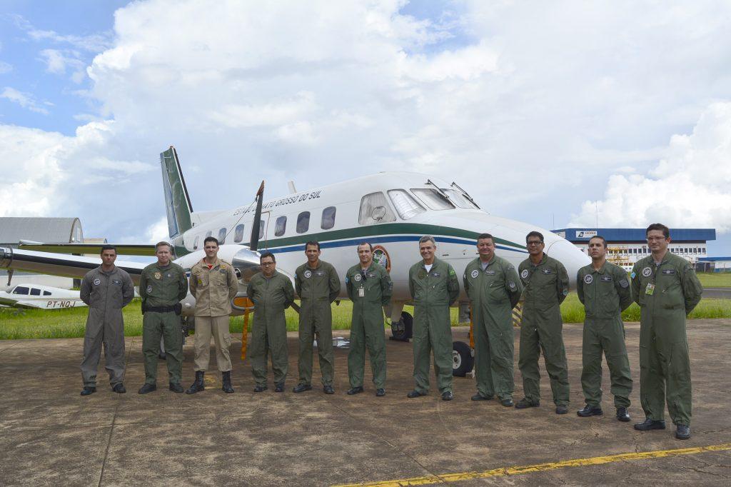Esquadrão aéreo do Governo do Estado. Foto: Edemir Rodrigues.