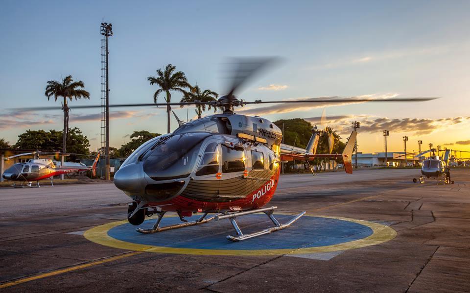 Helicópteros da CIOPAer do Ceará. Foto: Queiroz Netto e Marcos Studart.