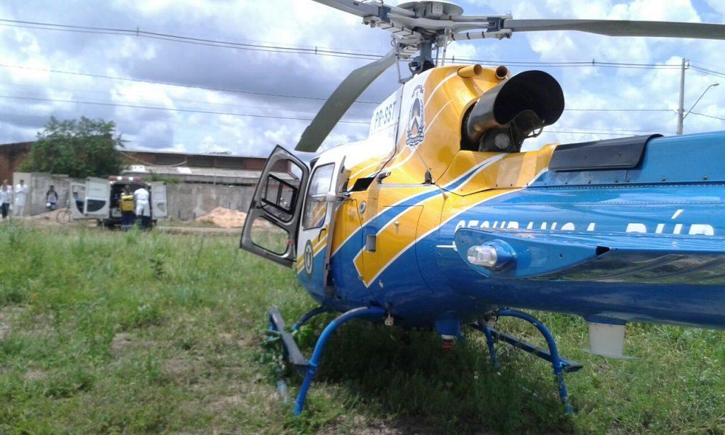 Helicóptero Tocantins 01 da Segurança Pública efetua remoções aeromédicas