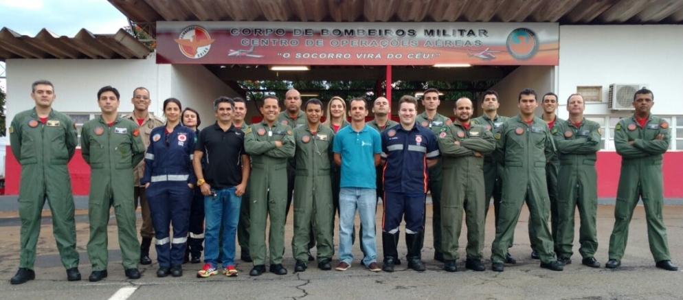 Centro de Operações Aéreas do Bombeiro de Goiás realizou o 3º treinamento de CRM