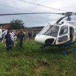Aeronave da Segurança Pública realiza remoção aeromédica de vítima de acidente
