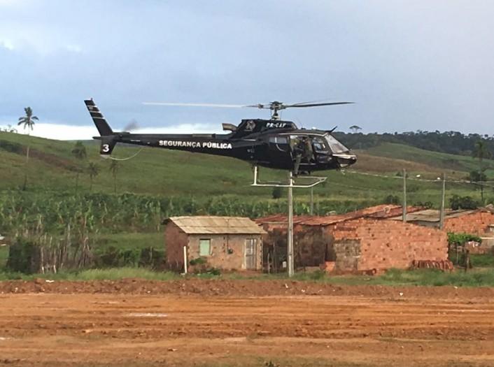 Ação teve suporte do helicóptero da Secretaria de Segurança Pública