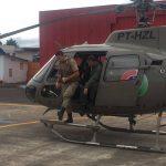 Policiais Militares passam por treinamento com helicóptero da 5ª Cia do BAPM
