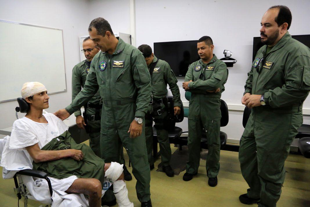 Equipe do Ciopaer reencontra vítima após 75 dias do resgate