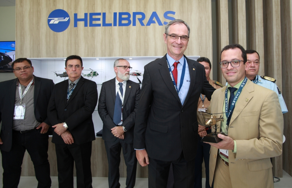 Presidente da Helibras, Richard Marelli e Secretário de Segurança do Ceará, André Costa n LAAD 2017. Crédito: Helibras/ Eny Miranda