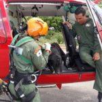 Bombeiros usam helicóptero para resgatar cachorro no Sul de Minas Gerais