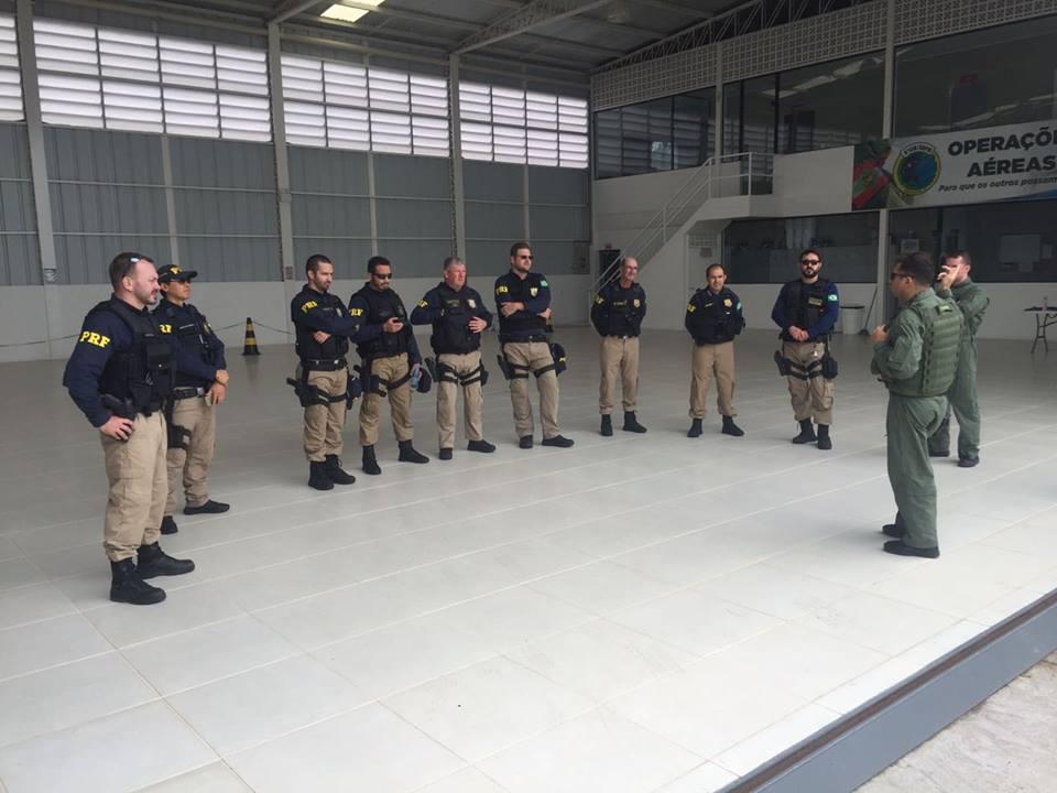 PRF participa de treinamento de integração com Batalhão de Aviação da PM em Lages