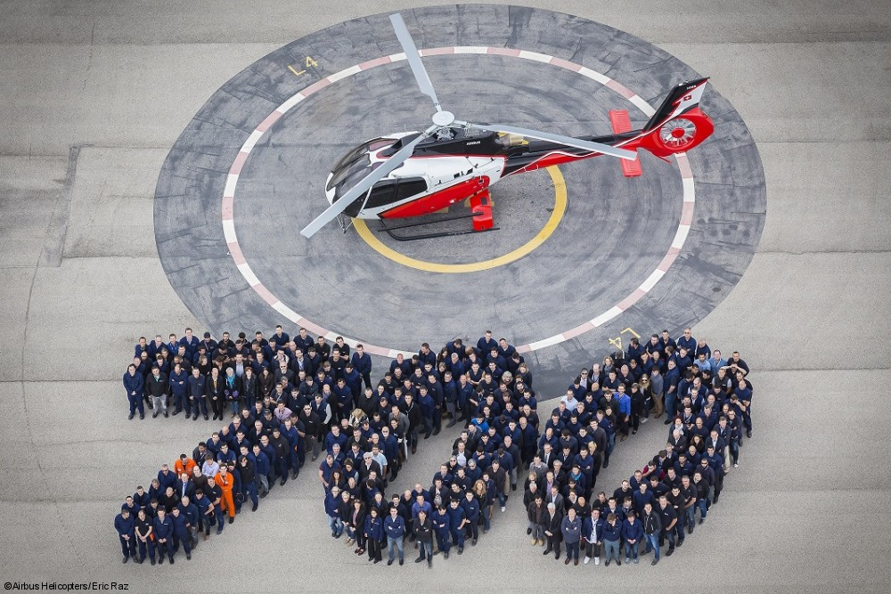 Airbus Helicopters fabricou o 700º H130
