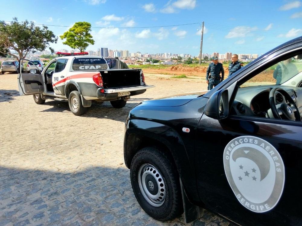Instrutores do GTA de Sergipe realizam treinamento de abordagem policial para alunos soldados da PM. Fotos Ricardo Pinho