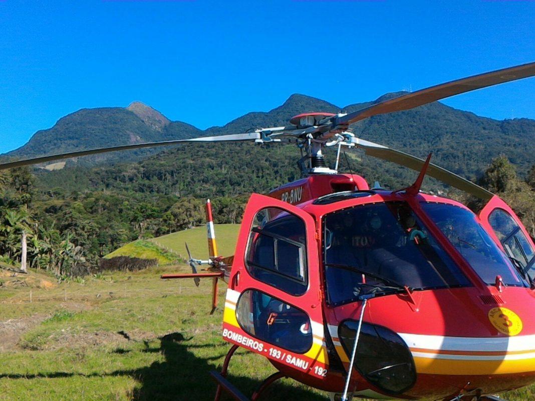 Localização de parapentes no Morro das Antenas em Jaraguá do Sul feito pelo Arcanjo 03.