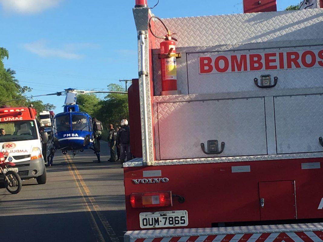 Guardião 05 resgata vítima de acidente de trânsito na BA-523