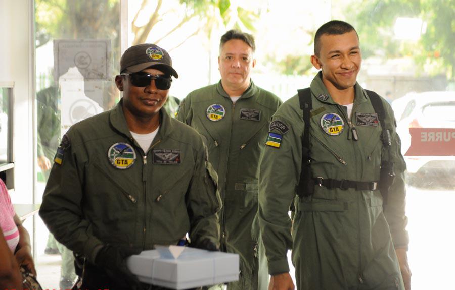 Este foi o primeiro parto no Estado realizado dentro da aeronave do GTA. Foto: André Rodrigues/SECOM