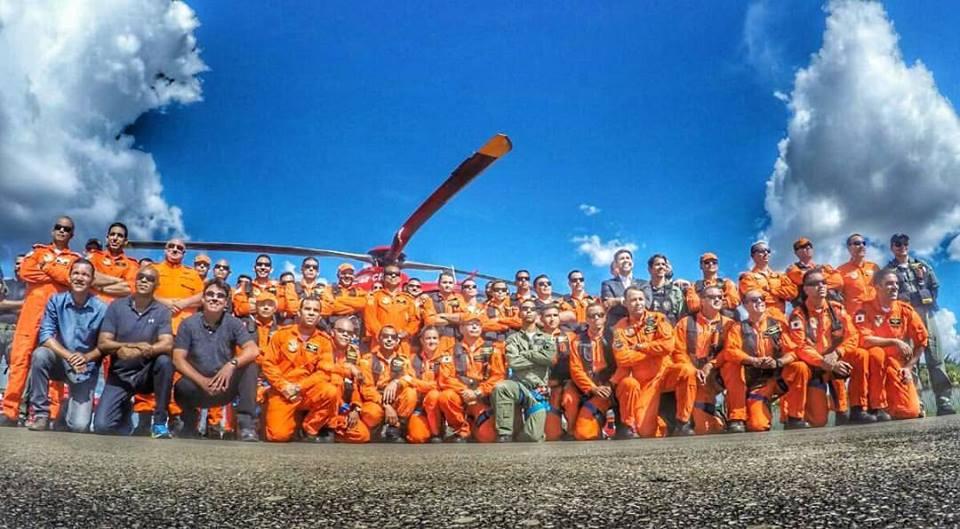 Tripulantes Operacionais no inicio do CTOp 2017. Imagem GAOp