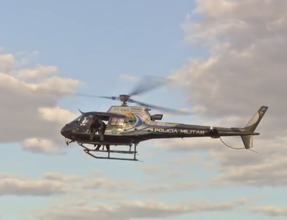 Helicóptero Harpia 01 do GPA (Grupo de Patrulhamento Aéreo da PM)