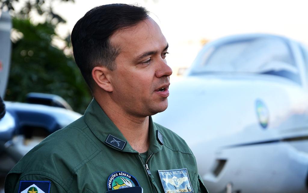 Comandante do Ciopaer, tenente-coronel PM Juliano Chirolli - Foto por: Sd PM Elias/Ascom-PMMT