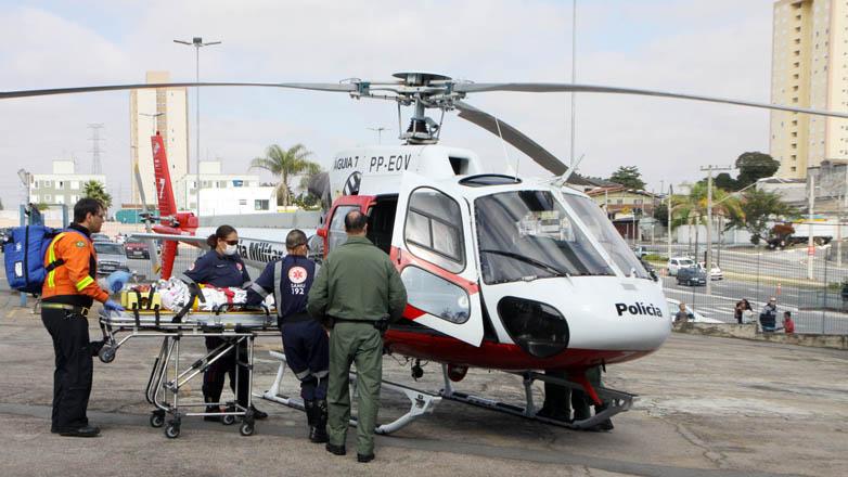 Simulação de trauma no transito. Foto: Charles de Moura/PMSJC.