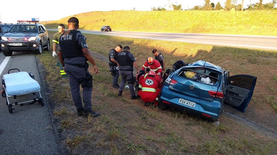 Águia 07 realiza resgate aeromédico de vítima de acidente na rodovia Carvalho Pinto
