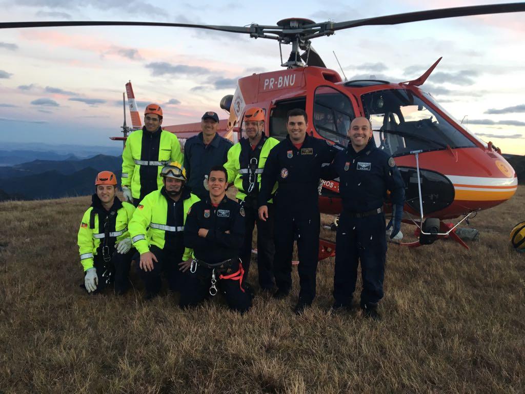 Ocorrência no Pico do Monte Negro em RS, vítima resgatado com sucesso.