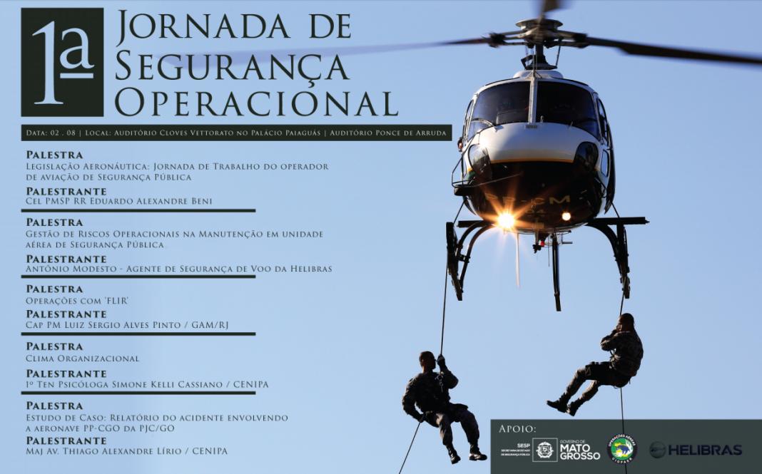 CIOPAer/MT realizará em agosto a 1° Jornada de Segurança Operacional