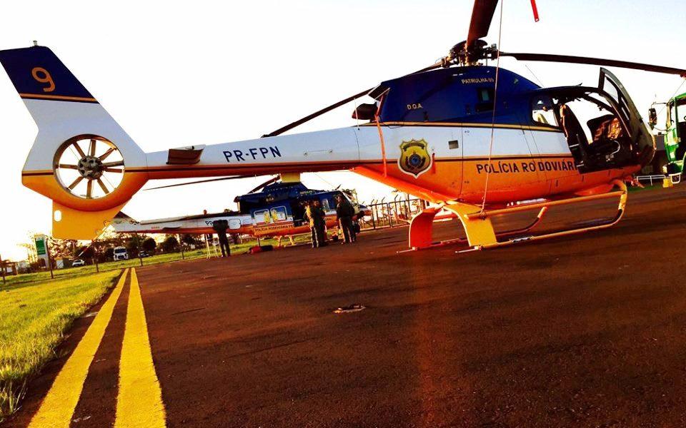 Bell 412EP e o EC-120B utilizados pelo DOA/PRF