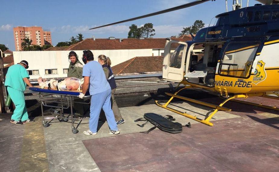 Bell 407 utilizado pela DOA/ PRF no resgate aeromédico e que foi suspenso em todo o Brasil por falta de recursos orçamentários.