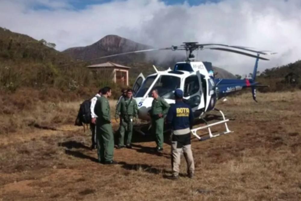 Estudante de Brasília é resgata de helicóptero após passar mal no Pico da Bandeira, entre ES e MG