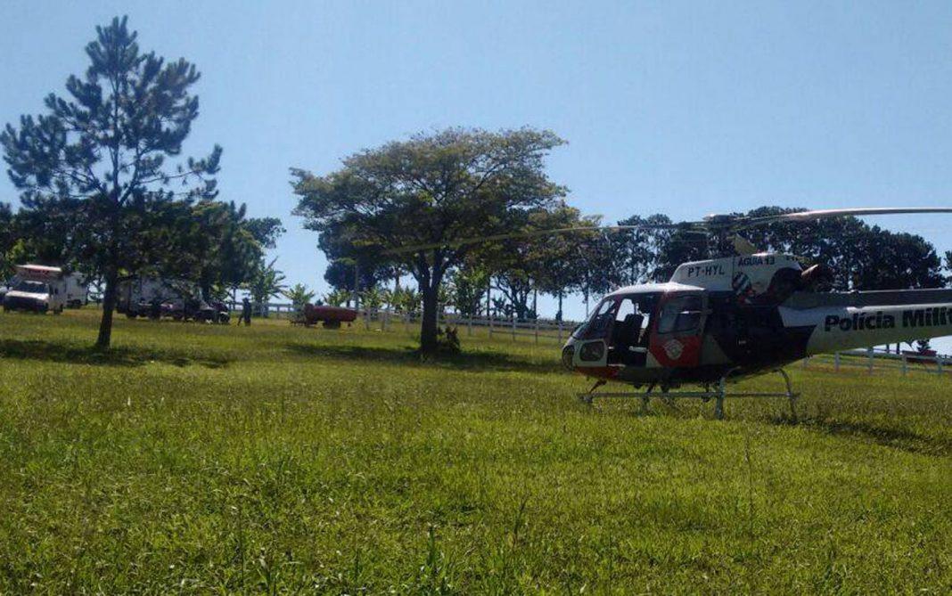 guia da Polícia Militar foi acionado e levou a vítima ao HC da Unicamp (Foto: Dalton Luiz Steffen)